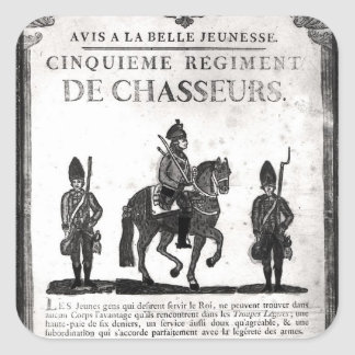 Recruitment poster for the Fifth Regiment Square Sticker
