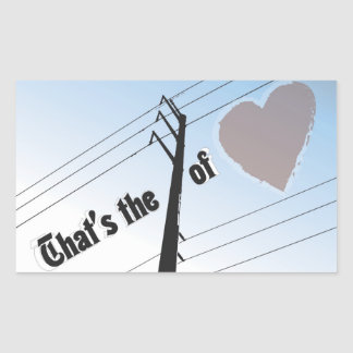 Rectangle Stickers POWER OF LOVE SILOUETTE