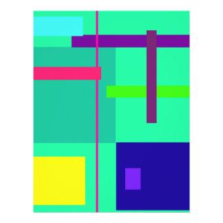 Rectangles Green 21.5 Cm X 28 Cm Flyer