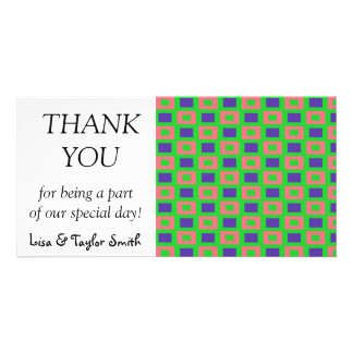 Rectangles pattern photo card template