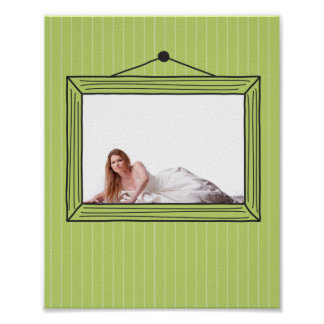 Rectangular handdrawn picture frame poster