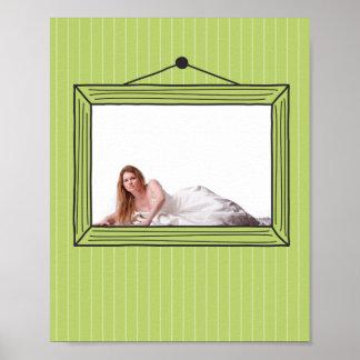 Rectangular handdrawn picture frame poster