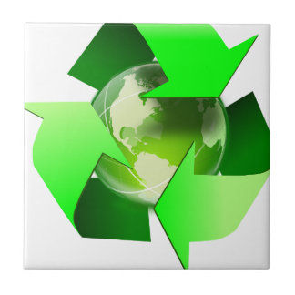 Recycle and save the world. tile
