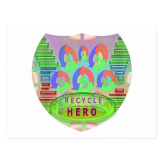 RECYCLE HERO AWARD - Encourage Now Postcard