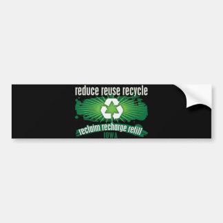 Recycle Iowa Bumper Sticker