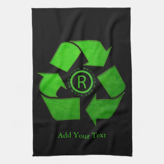 Recycle Logo by Shirley Taylor Tea Towel