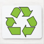 RECYCLE SIGN - Green Belt recycle symbol Mousepads