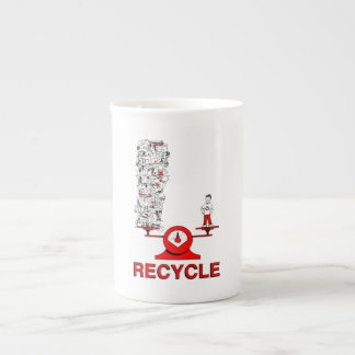 Recycle Trash Bone China Mug