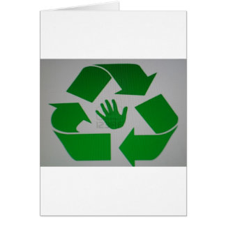 Recycled Handprint Card