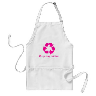 Recycling is chic! standard apron