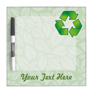 Recycling symbol Dry-Erase board
