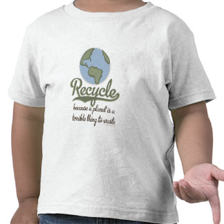 Recyle Earth Day Toddler Tee Shirt