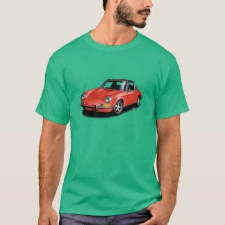 Red 1972 German 911 Sports Car on green T-Shirt