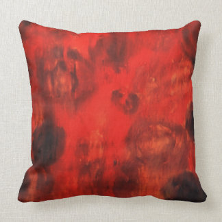 Red abstract art cushion
