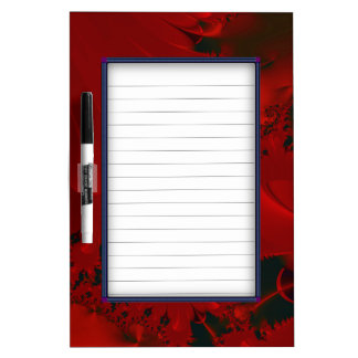 Red Abstract Design Dry Erase Board