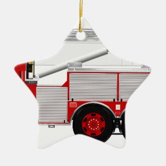 Red Aerial Scope Custom Fire Truck Design Christmas Ornament