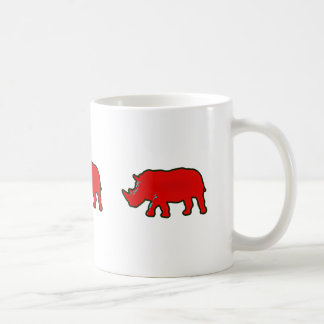 red africa rhinocerus coffee mug