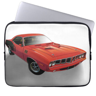 Red American muscle car Computer Sleeves