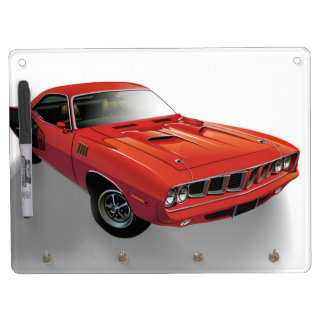 Red American muscle car Dry Erase White Board