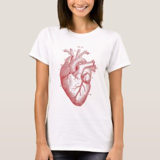 Red Anatomical Heart T-Shirt