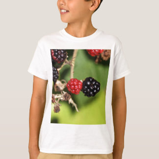 Red and black blackberry fruits. T-Shirt