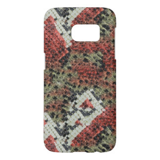 Red and Black Coral Snake Skin Pattern