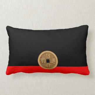 RED AND BLACK MONEY PILLOW THROW CUSHIONS