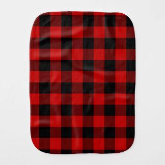 Red and Black Plaid Burp Cloth