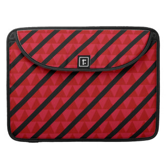 Red and Black Striped Triangles Pattern Sleeve For MacBooks