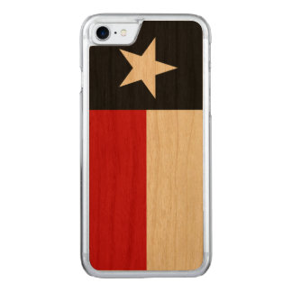 Red and Black Texas Flag Carved iPhone 8/7 Case