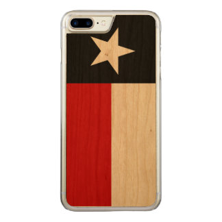 Red and Black Texas Flag Carved iPhone 8 Plus/7 Plus Case