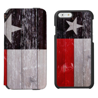 Red and Black Texas Flag Painted Old Wood Incipio Watson™ iPhone 6 Wallet Case
