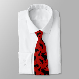 Red and Black Woodland Pattern Tie