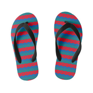 Red and Blue Kid's Jandals