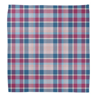 Red and blue plaid checkerboard dog kerchiefs
