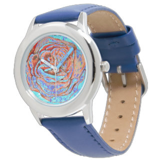 Red and Blue Rose Watch
