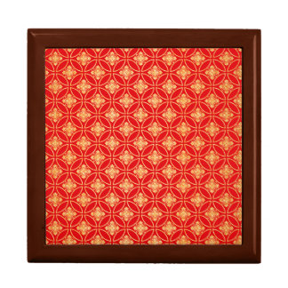 Red and Gold Glitter Pattern Decorative Gift Box