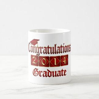 Red and Gold Graduate 2014 Coffee Mug