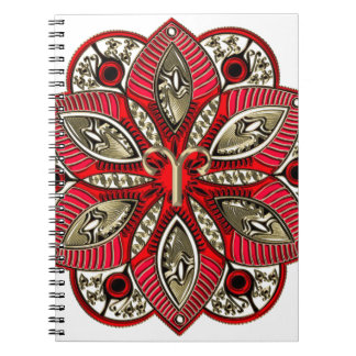 Red and Gold Zodiac Sign Aries Notebook