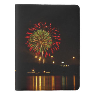red and green fireworks explode over Mississippi Extra Large Moleskine Notebook
