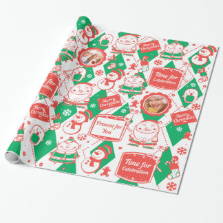 Red and green pattern for Christmas Wrapping Paper