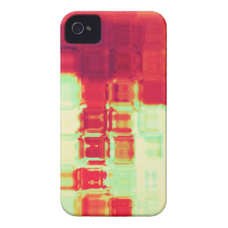 Red and Green Ripple Block Abstract Design iPhone 4 Cases