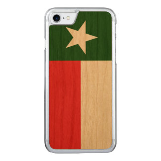 Red and Green Texas Flag Carved iPhone 8/7 Case