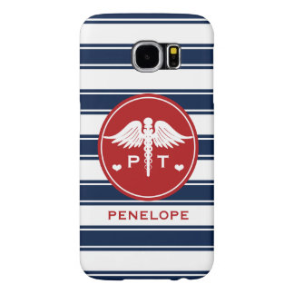 RED AND NAVY STRIPE PHYSICAL THERAPY PT SAMSUNG GALAXY S6 CASES
