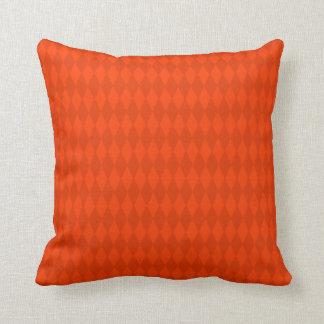 Red and Orange Diamond Design Throw Pillow