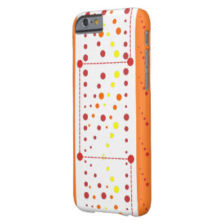 Red and orange dotty drops barely there iPhone 6 case