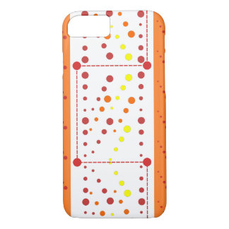 Red and orange dotty drops iPhone 7 case