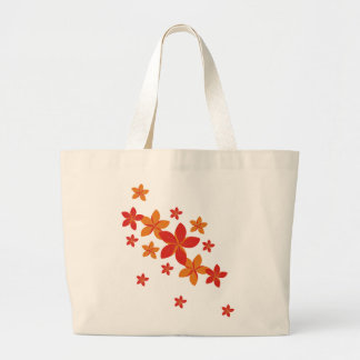 red and orange flowers bag