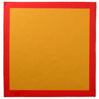 Red and Orange Napkins