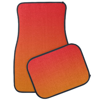 """""""Red And Orange Ombre"""" Car Mat"""